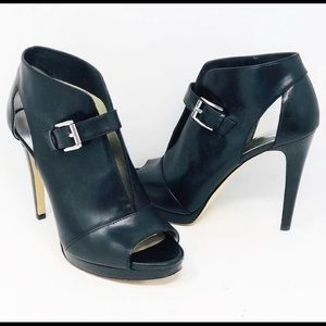 Michael Kors peep toe black pump. Barely worn!